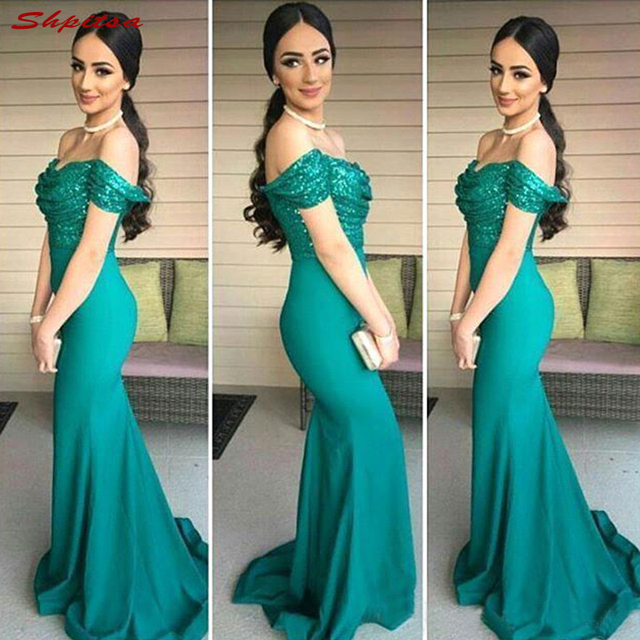 Turquoise Bridesmaid Dresses Long Plus Size for Wedding Party Women ...