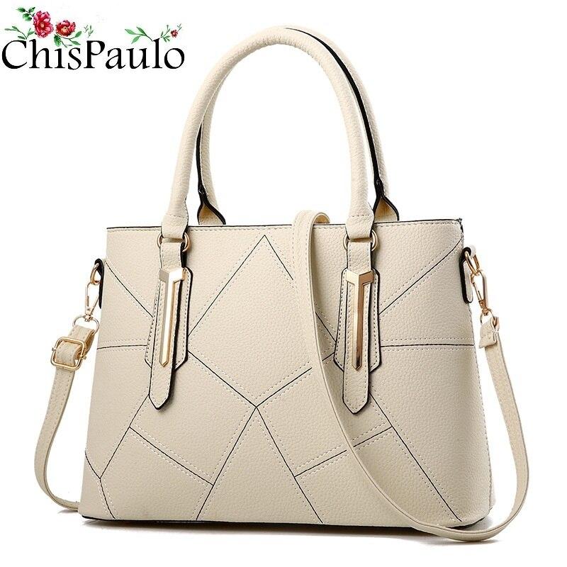 Luxury Designer Woman Pattern Handbags Genuine Leather Bags For Women 2018 Messenger Crossbody Fashion Women's Shoulder Bag N380