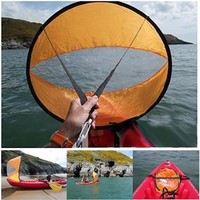 46 Big Size Kayak Downwind Wind Sail Paddle Inflatable Canoe Boats Drifting Wind Sail With Clear Window Kayak Boat Accessories