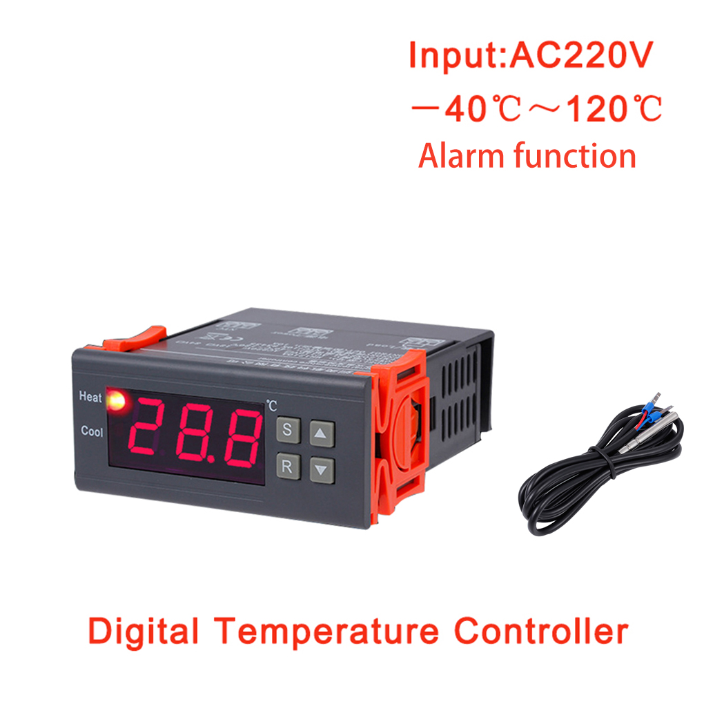 MH1210B AC220V Digital Thermostat Electronic Temperature Control Table Refrigeration Heating Controller Thermal Regulator