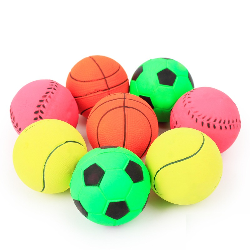 45mm Basketball Football Dog Toys Ball Toys Playing Pet Products Toys For Dog Ball For Small Medium Large Dogs Pet Accessories