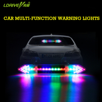 Car Solar Energy Flashing Lights Anti Rear End Lights Double Arrow Warning Light LED Strobe Ranger