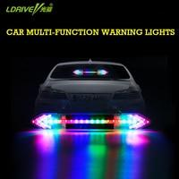 Car Solar Energy Flashing Lights Anti Rear End Lights Double Arrow Warning Light LED Strobe Ranger