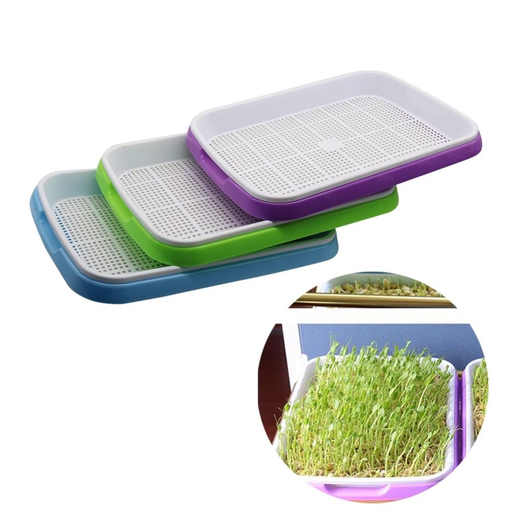 1 set Doppel Schicht Bean Sprossen Platte Sämling Tray Pflanzung Gerichte Wachsende weizen sämlinge Kindergarten Töpfe Hause Garten pflanze werkzeuge