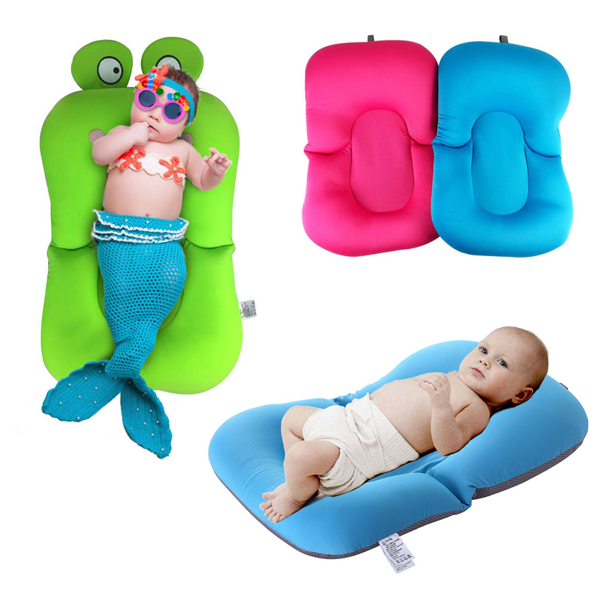 NewBorn Safety Security Bath Seat Support Infant Baby Bath Pad Non ...
