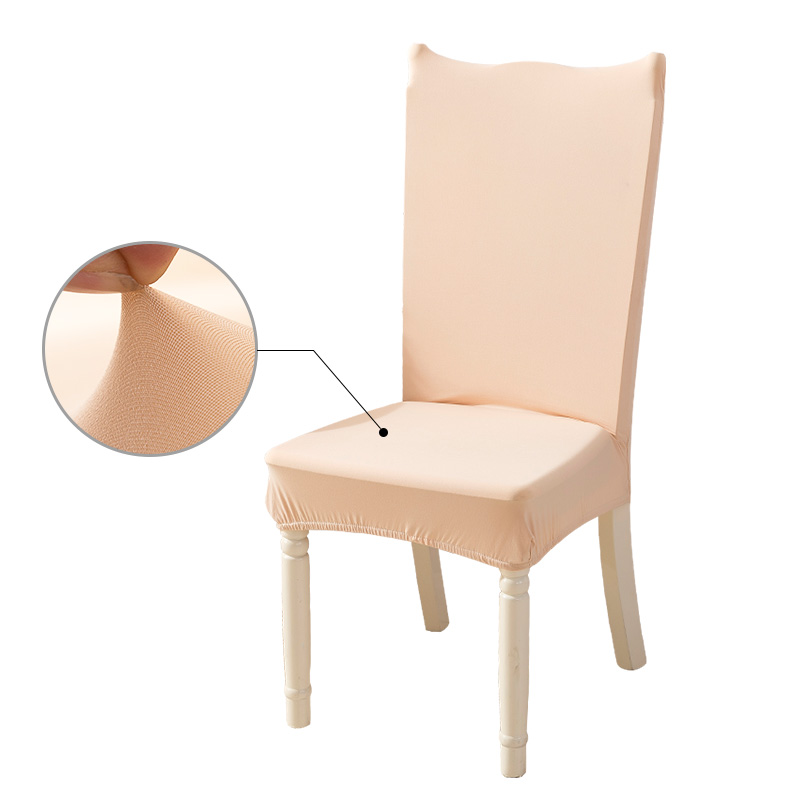 Modern Dining Room Chair Covers Spandex Universal Stretch Parsons Chair Covers with Back for Kitchen Chair Seat Polyester Solid