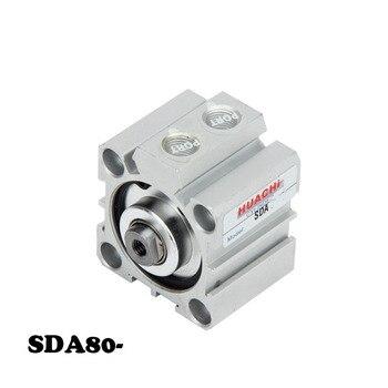 Free shipping  SDA Pneumatic Air Cylinder 80mm Bore 5/10/15/20/25/30/35/40/45/50/60/70/75/80/90/100/150mm Stroke цена 2017