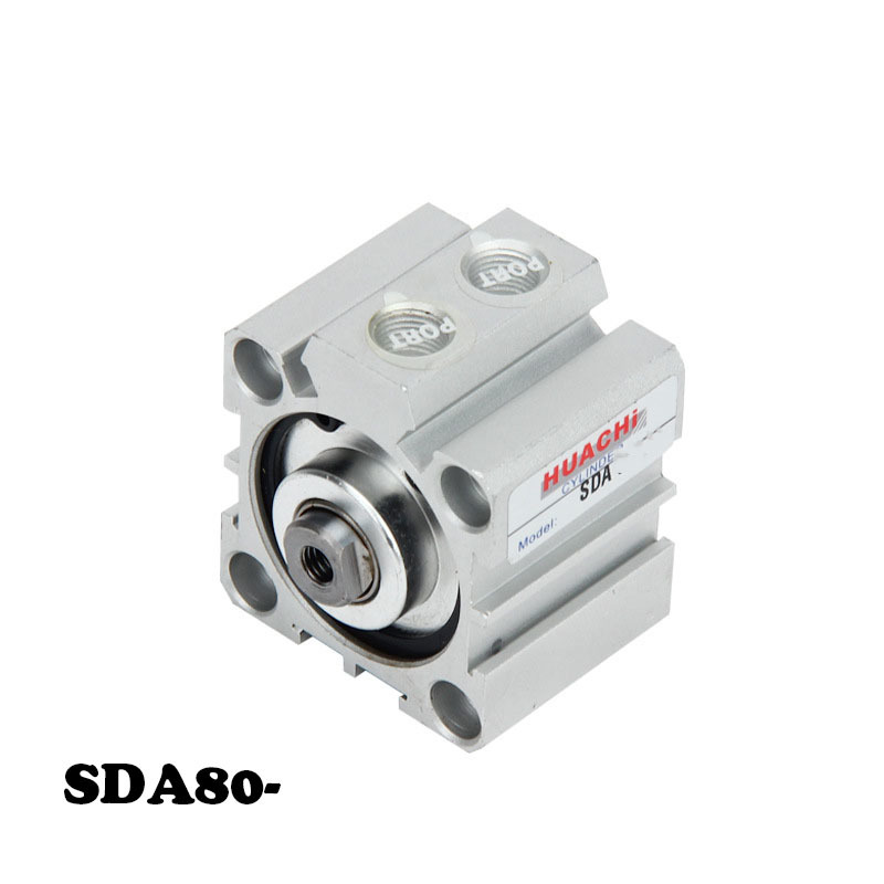 Free shipping SDA Pneumatic Air Cylinder 80mm Bore 5/10/15/20/25/30/35/40/45/50/60/70/75/80/90/100/150mm Stroke