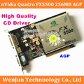 1 PCS Frete Grátis NOVA Marca Geforce FX5500 256 M AGP DVI/VGA/TVO Placa Gráfica de Vídeo FX 5500 AGP
