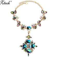 Luxury Chunky Chain Necklace Women Flower Necklaces & pendants Maxi Femme Statement jewelry Collier Bijoux accessories