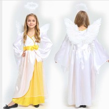 Kids Girls Princess Costume Children Angel Cosplay Costumes Carnival Birthday Party Purim Halloween Christmas