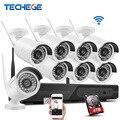 Kit de Sistema de CCTV 720 P 8ch NVR HD Inalámbrico Al Aire Libre IP66 Visión nocturna Cámara IP wifi de la Cámara kit Home Seguridad Sistema vigilancia