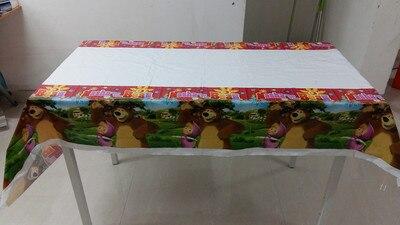 10pcs/bag tablecloth Cartoon Masha and bear Birthday Decorative Party Event Supplies