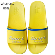 Whoholl Women Summer Slippers Thick Soled Slides Platform Beach Sandals Black White Shoes Flip Flops Zapatillas Mujer 9.5