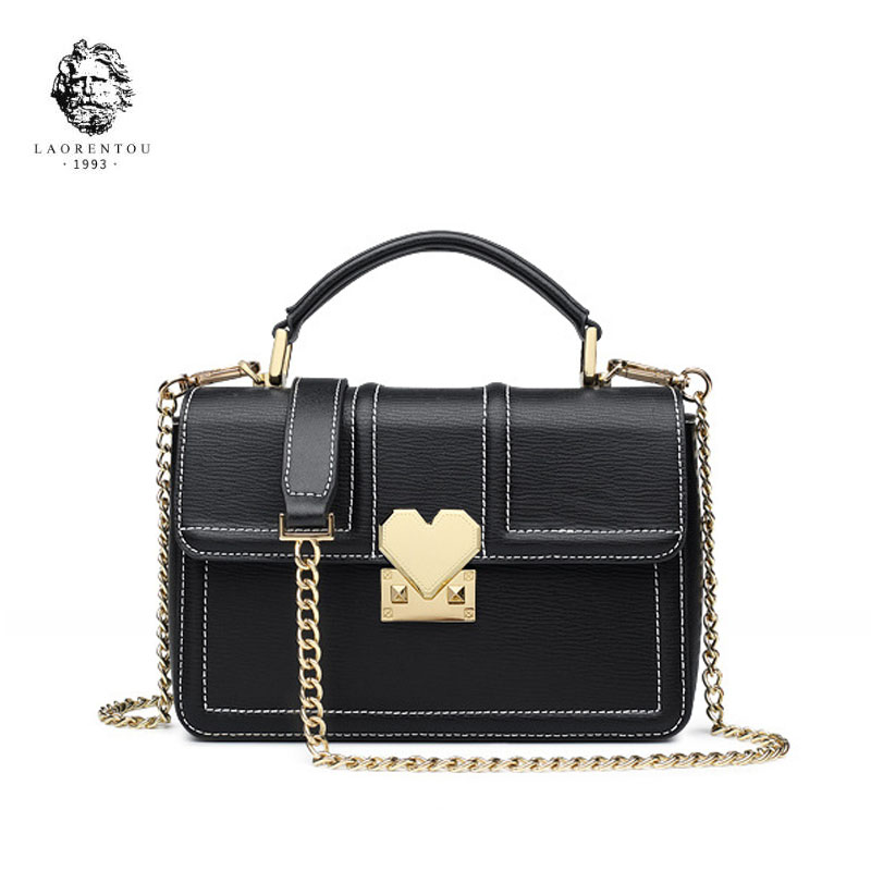 LANRENTOU 2018 New women leather bag Simple fashion luxury leather chains small bags tote women leather shoulder bag Handbags eimore brand genuine leather handbags women small simple tote bag luxury fashion ladies classic pattern leather shoulder bags