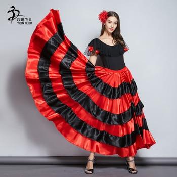 ce32326ec Las mujeres dama Flamengo Vestido falda Flamenco, Vestido de baile faldas  de baile Flamenco trajes ...