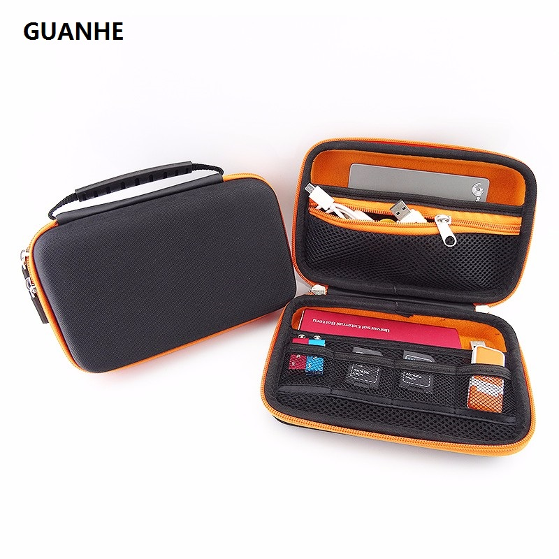 GUANHE 2.5 Hard Flash drive USB HDD Bag for Seagate Backup Plus Slim/WD My Passport Ultra Slim/Nintendo New 3DS XL/3DS