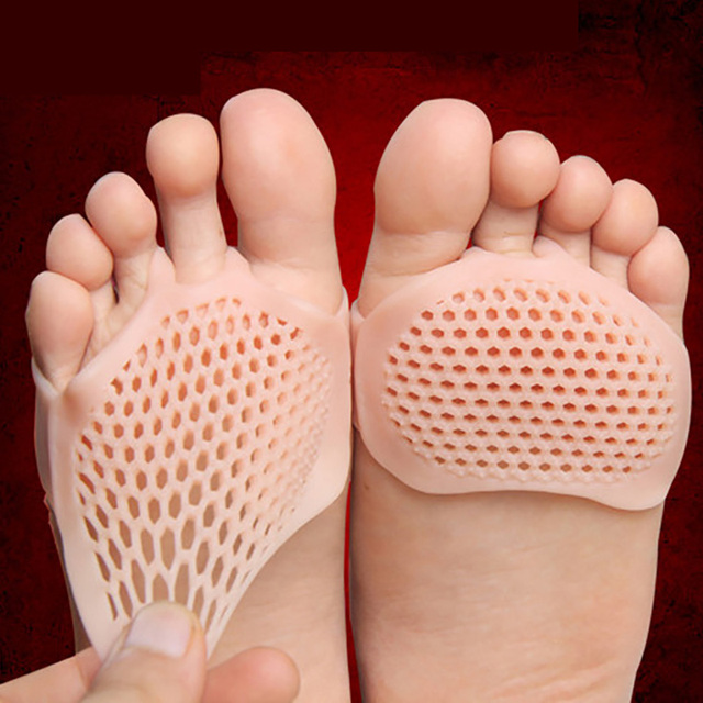USHINE Silicone Gel Forefoot Pads Breathable Soft Protector Elastic Pain Relief Insole 1 pair