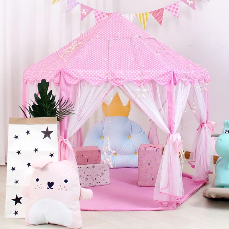 Barraca de brinquedo do bebê portátil dobrável príncipe princesa tenda crianças castelo jogar casa presente do miúdo ao ar livre praia barraca infantil presentes