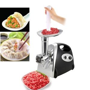 Image 1 - 1500w 220 240v moedor de carne elétrico salsicha stuffer picador de carne para uso doméstico resistente picador cozinha ferramenta alimentos moagem picar
