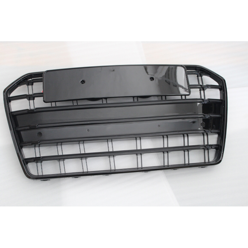 Car accessories For Audi A6 S6 Style All black Front Bumper Grill Grille 2016 image
