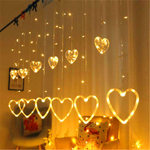 2.5M 138leds Star Curtain Icicle String Lights Christmas Garland Indoor Wedding Party Birthday Window Decoration String Light beiaidi 3x0 65m heart shape curtain icicle led string light romantic xmas wedding party window curtain garland indoor lighting