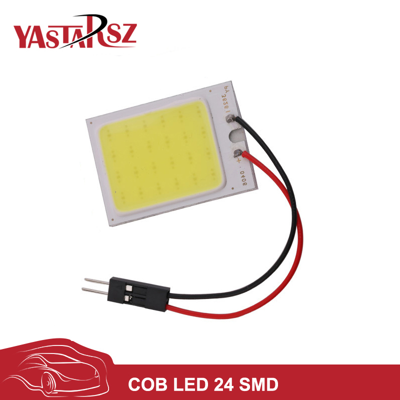 Car led DC12V Big Promotion T10 24 SMD COB LED Panel Super White Car Auto Interior Reading Map Lamp Bulb Light car light source