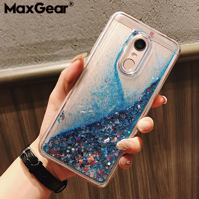 Glitter Liquid Quicksand Water Case For Xiaomi Redmi Mi 8 Lite Note 3 5 6 4X 4A 5A 6A Mix Max 2 2S S2 Plus Pro F1 F1 Shine Cover