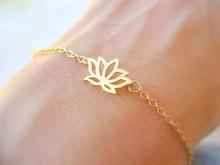 bracelets 30PCS- B012 Fashion Cute Plant Lotus Bracelets Tiny Lotus Flower Bracelets for Prom Petal Bracelets Jewelry for Weddings