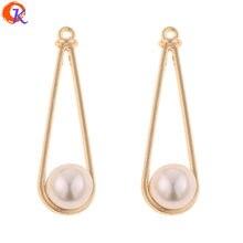 Design Cordial 100 pièces 10*33MM bijoux accessoires/bricolage boucles doreilles fabrication/forme de goutte/Imitation perle/fait à la main/boucles doreilles résultats