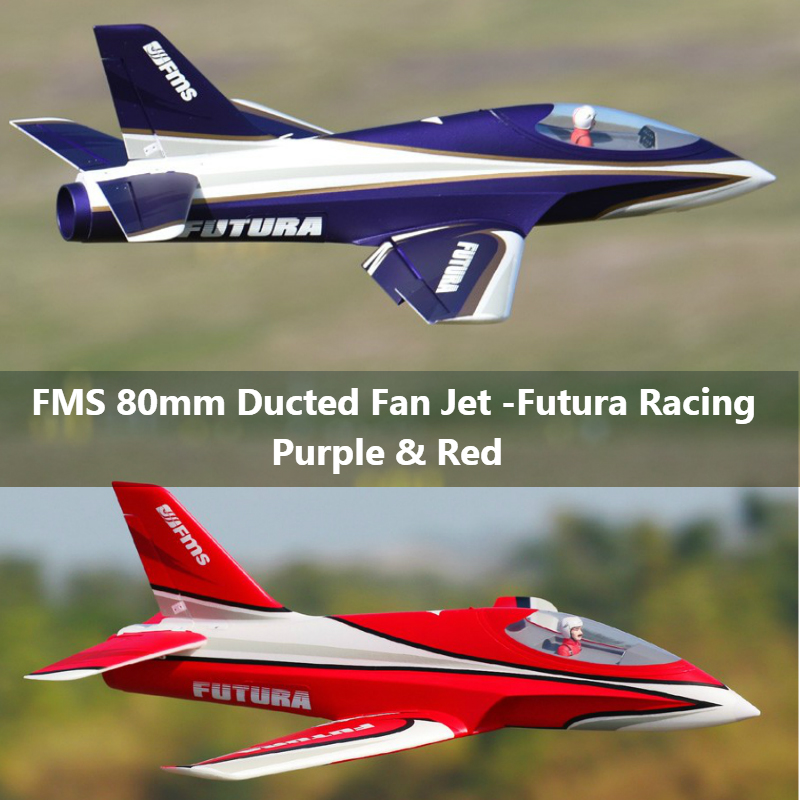 FMS 80mm Futura Racing Ducted Fan EDF Jet 6S 6CH With Flaps Retracts EPO High Speed PNP RC Airplane Model Hobby Plane Aircraft