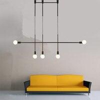 Wisiorek pasek światła kuchnia nowoczesne lampy wiszące sypialnia czarna lampa oświetlenie biurowe oprawy domowe oświetlenie wewnętrzne żarówka za darmo w Wiszące lampki od Lampy i oświetlenie na
