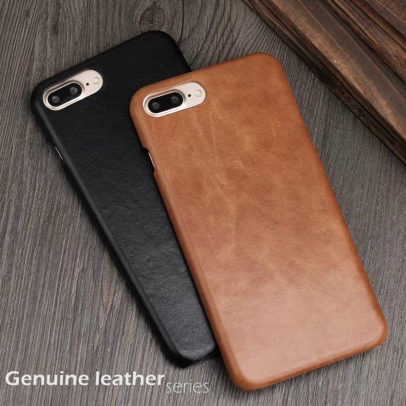 LoveCase 6s 7Plus retro genuine leather phone back cover for iphone 6 6s 7 Plus top quality Luxury Matte Skin cases with box