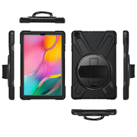 galaxy tab Case For Samsung Galaxy Tab A 10.1 inch 2019 SM-T510 T515 Rugged Hybrid Stand Cover Handle Rotate Shoulder Strap Shockproof Kids (1)