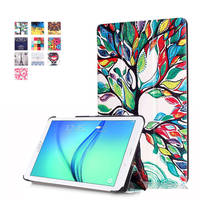 Slim Wonderful Painted PU Leather Case Stand Cover For Samsung TAB E 8 0 T377V 8