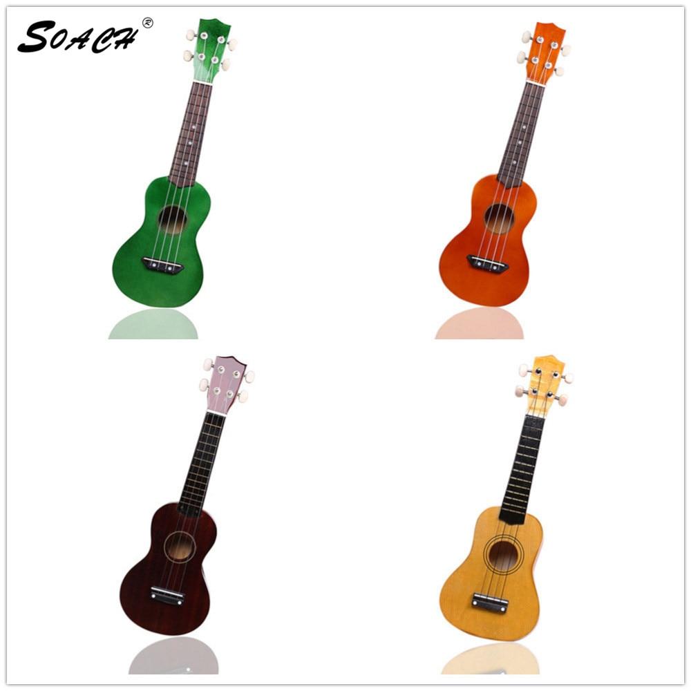 SOACH Akustická kytara 4-strunné dřevo pro začátečníky ukulele Dětská kytarová továrna velkoobchodní hudební nástroj malá kytara