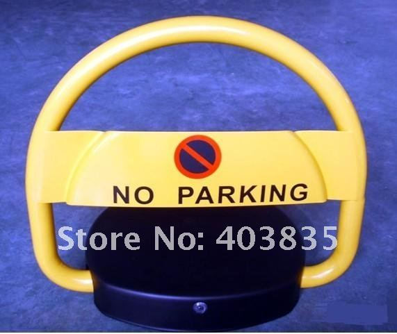waterproof battery powered car safety parking bollard lock /parking barrier posts/parking space saving lock(no battery coming) half ring shape of the block machine parking barrier lock