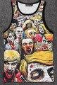 Verano hombres chaleco alameda amanecer de los muertos de horror zombie Zombies camisa 3d jersey de impresión tank top
