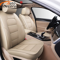AutoDecorun Genuine Leather Car Seat Covers for Mercedes Benz GLC200 Coupe GLC 300 260 220d 250d Seat Cover Cushion Accessories