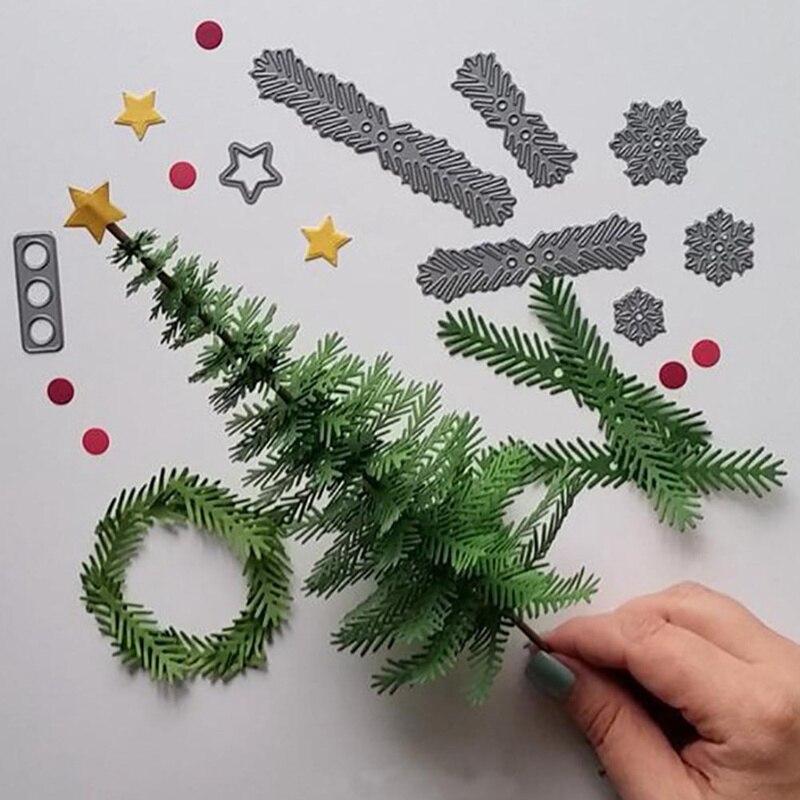 leaf diy cutting dies stencil scrapbooking embossing christmas handmade new