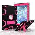 Для Apple iPad2 iPad3 iPad4 Дети Безопасный Противоударный Heavy Duty Броня кремний + PC Стенд Задняя Case Cover For ipad 2 3 4 Tablet ПК