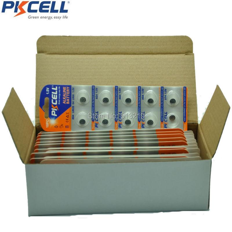 400 x PKCELL 1 5V AG4 Battery SR626 377 LR626 LR66 SR66 Alkaline Batteries G4 Button