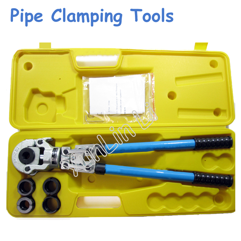 Hydraulic Clamp Pressure Tong Plumbing Tool Hydraulic Tools with Telescopic Handle 360 Degrees Head Pipe Clamping Tools CW-1632 pex hydraulic tools cw 1632 with telescopic handle 360 degrees head