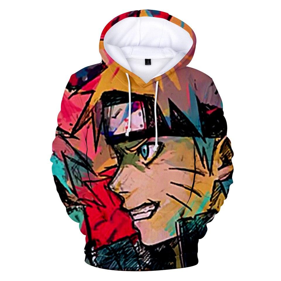 Naruto Hoodie Coat Puiiover Sweatshirts Kakashi Sasuke 3D Hoodies Pullovers Long Sleeve Outerwear Hoodie E Christmas Gift