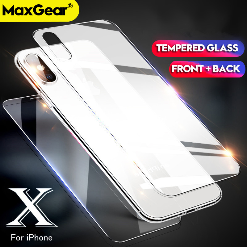 Tempered-Glass Screen-Protector Protective-Film Back XR 6s-Plus Rear IPhone 8 Xs-Max