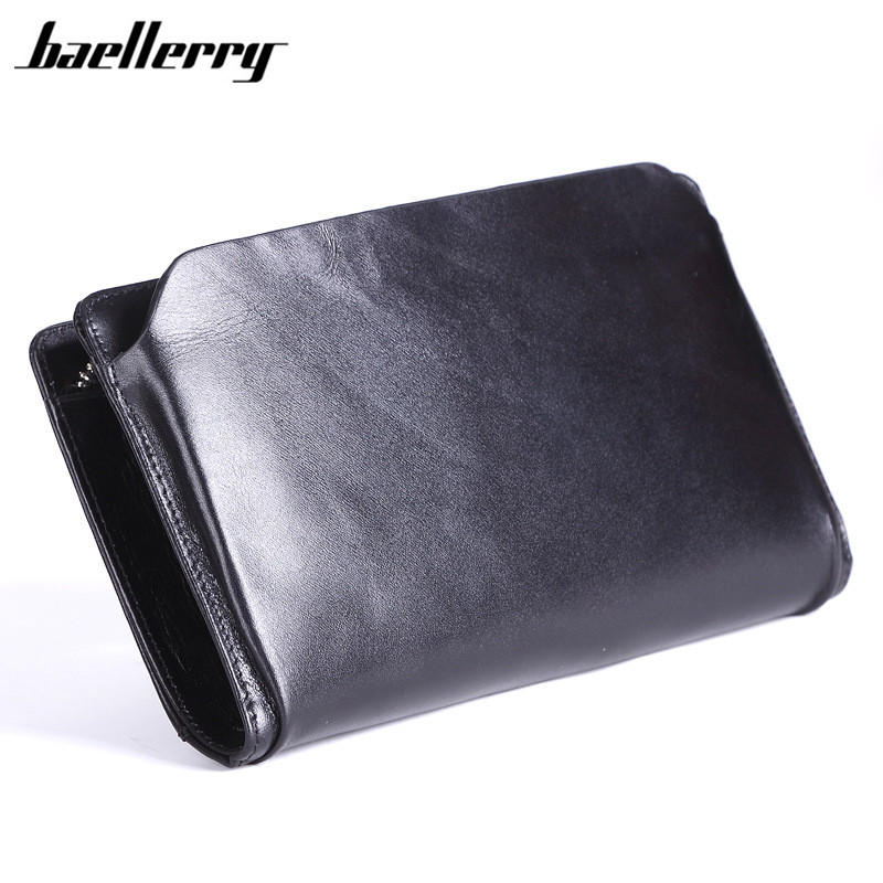 Men Wallet with Phone Bag Cow Genuine Leather Wristlet Designer Black Long Men's Purse Zipper Male Clutch Wallet 23.5cm furutech adl cruise