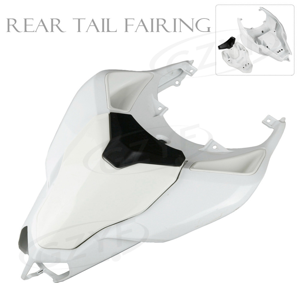 Unpainted Motorcycle Raw Tail Rear Fairing Parts For Ducati 2007 2008 2009 2010 1098 848 1198, ABS Plastic motorcycle tail tidy fender eliminator registration license plate holder bracket led light for ducati panigale 899 free shipping