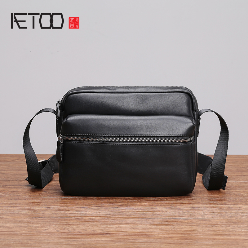 AETOO Single shoulder bag male leather casual crossbody bag fashion tide large capacity mens head layer cowhide bagAETOO Single shoulder bag male leather casual crossbody bag fashion tide large capacity mens head layer cowhide bag