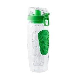 1000 ml/32 oz owoce zaparzaczem butelka wody butelka na wodę cytrynową przenośne butelki wspinaczkowe obóz Detox Health BPA Free Green w Zewnętrzne narzędzia od Sport i rozrywka na