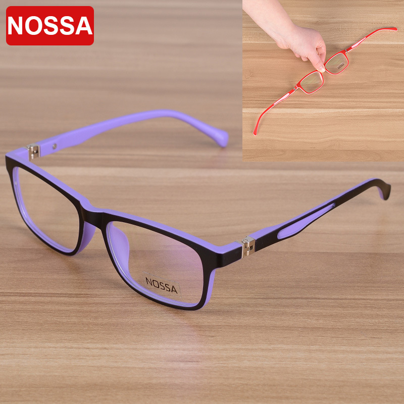 NOSSA Elegant Square Children Optical Glasses Frame Barn Eyewear Eyeglasses Gutter Gutter Myopi Spectacle Frames Clear Lens